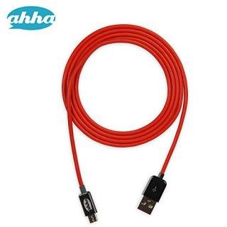 【1メートルのMicroUSBケーブル】 ahha 通信 & 充電 用 Micro USB - USB 2.0 ケーブルを固定するクリップ付き
