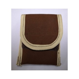 【丈夫なスリーブタイプケース】 GauGau Universal Mobile Pouch Ver. 2.0  Canvas-Nylon Brown