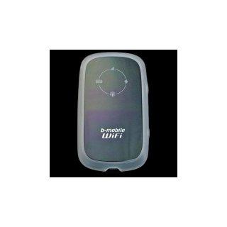 GauGau 日本通信 b-mobile WiFi BM-MF30 用 TPU バンパーフレームタイプケース クリアーホワイト