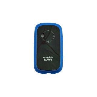 GauGau 日本通信 b-mobile WiFi BM-MF30 用 TPU バンパーフレームタイプケース クリアーブルー