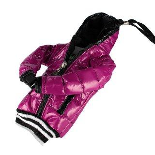 【5インチまで対応 汎用 スマートフォン ポーチ】 GauGau  Down Jacket Sytle Case Pink (ネックストラップ つき)