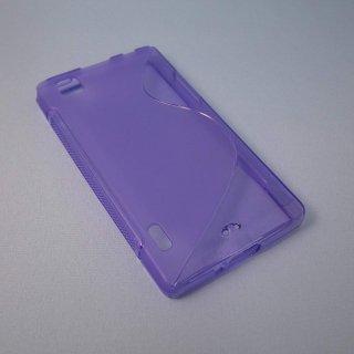 【シンプルなソフトケース】 GauGau au IS11LG / LG Optimus X Wave Soft Case  Clear Purple