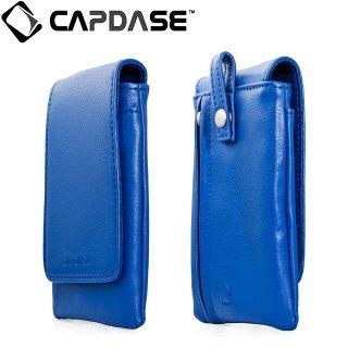 【ループ付きケース】 CAPDASE スマートフォン 汎用ケース Novo Pocket Klassic Flip  Blue