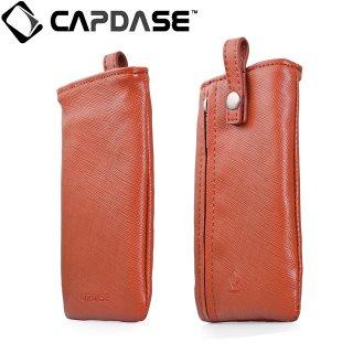 【ネックストラップ付きケース】 CAPDASE スマートフォン汎用ケース Novo Pocket with Lanyard Brown
