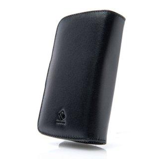 CAPDASE HTC Touch HD Bi-fold (横開き) レザーケース (牛革) 黒