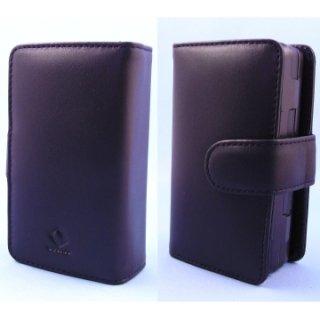 CAPDASE docomo HT-01A/Softbank X05HT/HTC Touch Pro Bi-fold (横開き) レザーケース (牛革) 黒