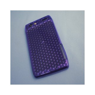 【シンプルなソフトケース】 GauGau au MOTOROLA RAZR IS12M Soft Case Hexagonal Pattern  Clear Purple