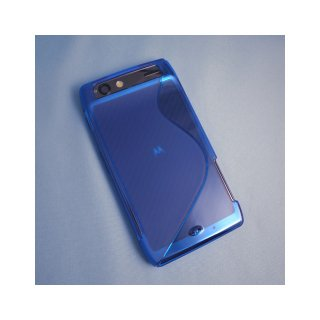【シンプルなソフトケース】 GauGau au MOTOROLA RAZR IS12M Wave Soft Case  Clear Blue