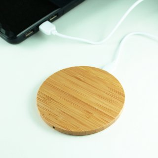 【iPhone対応! ワイヤレス充電器セット】GauGau Wireless Charger Bamboo(Lightningレシーバー付)