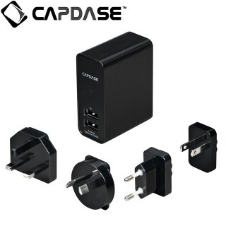 【GALAXY Tab 用 充電器】 CAPDASE Dual USB Power Adapter GALAXY Tab シリーズ 対応