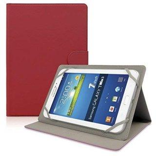 【スタンド機能付き横開き型ケース】 ahha 8インチタブレット対応 汎用ケース MAX  Ketchup Red
