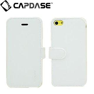 【スタンド機能付き手帳型ケース】 CAPDASE iPhone 5c 用 Folder Case Sider Classic  White
