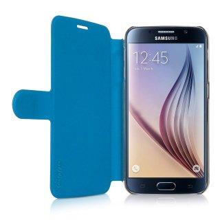 【リバーシブルで色が変わるケース】 ahha Samsung GALAXY S6 SC-05G Dual Face Flip Case SYKES BASIC