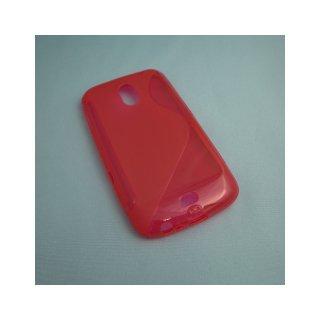 【シンプルなソフトケース】 GauGau docomo GALAXY NEXUS SC-04D Wave Soft Case  Clear Red