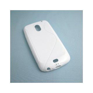 【シンプルなソフトケース】 GauGau docomo GALAXY NEXUS SC-04D Wave Soft Case  Solid White