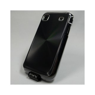【ハードタイプのケース】 GauGau docomo GALAXY S SC-02B Hard Rear Cover  Circular Metallic  Black