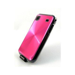 【ハードタイプのケース】 GauGau docomo GALAXY S SC-02B Hard Rear Cover  Circular Metallic  Pink