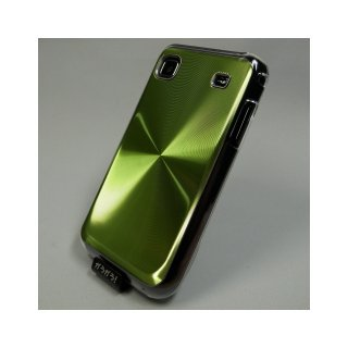 【ハードタイプのケース】 GauGau docomo GALAXY S SC-02B Hard Rear Cover  Circular Metallic  Green