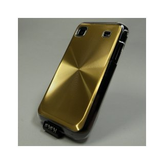 【ハードタイプのケース】 GauGau docomo GALAXY S SC-02B Hard Rear Cover  Circular Metallic  Gold