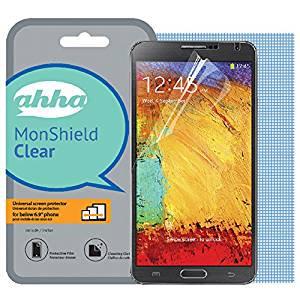 【6.9インチまでのスマートフォンに対応】 ahha スマートフォン 汎用 MonShield Clear 液晶保護フィルム