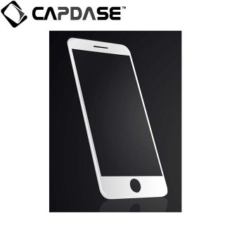 【iPhone 8 Plus/7 Plus/6S Plus/6 Plus 端まで保護するガラス】 CAPDASE iPhone7 Plus 3D Hybrid Glass Clear/Black