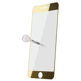 【iPhone 8 Plus/7 Plus/6S Plus/6 Plus 色つき強化ガラスフィルム ゴールド】 ahha 硬度9Hのカラーガラス(0.33mm) Glass Protector