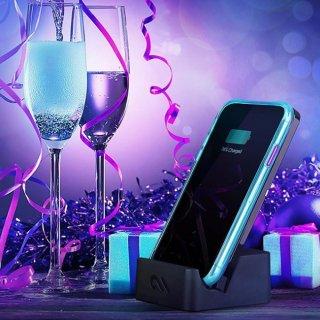 【大胆なネオンカラーがインパクト大!】iPhone iPhoneXS Max  Tough Clear - Neon Turquoise / Purple