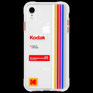 【Case-Mate×Kodak コラボレーション】  iPhone XR Case Kodak Striped Kodachrome Super 8