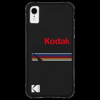 【Case-Mate×Kodak コラボレーション】  iPhone XR Case Kodak Matte Black + Shiny Black Logo