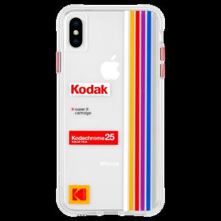 【Case-Mate×Kodak コラボ】  iPhone Xs Max Case Kodak Striped Kodachrome Super 8