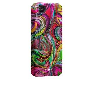 【衝撃に強いデザインケース】 iPhone 4S/4 Hybrid Tough Case, Mexican-Wrestiling-Brawl