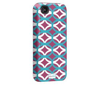 【衝撃に強いデザインケース】 iPhone 4S/4 Hybrid Tough Case, Clairebella -Ovalicious Purple