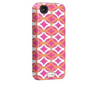 【衝撃に強いデザインケース】 iPhone 4S/4 Hybrid Tough Case, Clairebella - Ovalicious Pink
