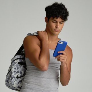 【シンプルな二重構造ケース】iPhone XS Max  Tough Grip - Blue/Titanium