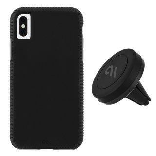 【カーマウント付きの便利なタフケース】iPhone XS Max ToughCase-Black with Car Vent Mount