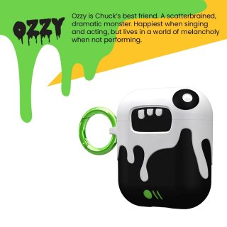 【AirPods 第1世代・第2世代・ワイヤレス充電OK・かわいいステッカー付】 AirPods Case CreaturePods - OZZY