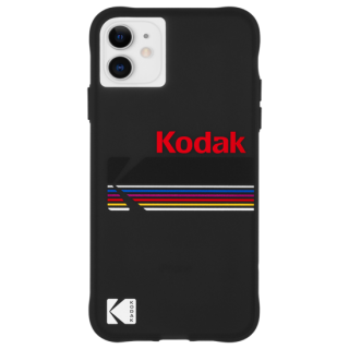 【Case-Mate×Kodak コラボ】 iPhone 11 / 11 Pro / 11 Pro Max Case Kodak - Matte Black + Shiny Black Logo