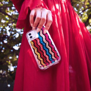 【世界のセレブが認めるデザイナー作品】PRABAL GURUNG iPhone 11 / 11 Pro / 11 Pro Max Case Waterfall - Rainbow - Gold