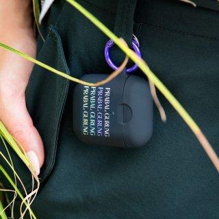 【エアポッドケース・AirPods 第1世代・第2世代・ワイヤレス充電もOK】 AirPods Case Hook Ups PRABAL GURUNG Logo - Black
