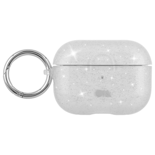 【AirPods Pro ケース・ワイヤレス充電OK】 AirPods Pro Case Sheer Crystal Clear w/Silver Circular Ring