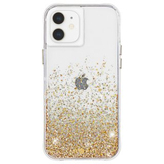 【金色に美しく輝く抗菌ケース】iPhone 12 mini Twinkle Ombré - Gold w/ Micropel