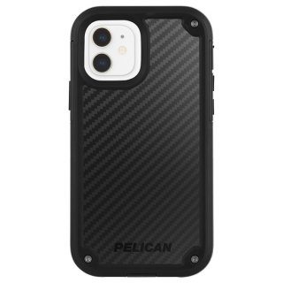 【Pelican × Case-Mate】抗菌ケース iPhone 12 mini Pelican Shield - Black Kevlar w/ Micropel ホルスターセット