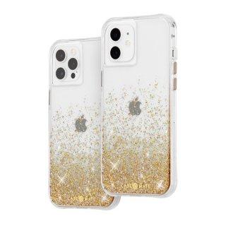 【金色に美しく輝く抗菌ケース】iPhone 12 / iPhone 12 Pro Twinkle Ombré - Gold w/ Micropel
