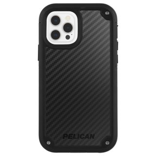 【Pelican × Case-Mate 】抗菌ケース iPhone 12 Pro Max Pelican Shield - Black Kevlar w/ Micropel ホルスターセット