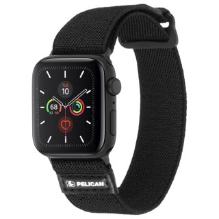 【Pelican × Case-Mate】Apple Watch 6,SE,5,4,3,2,1(42mm/44mm) 抗菌バンド Protector Band - Black