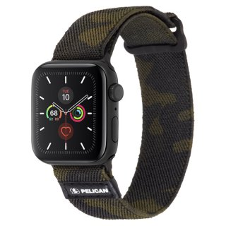 【Pelican × Case-Mate】Apple Watch 6,SE,5,4,3,2,1(42mm/44mm) 抗菌バンド Protector Band - Camo Green