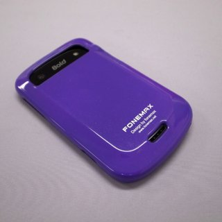 【キラキラのラメが入ったソフトケース】 FONEMAX docomo BlackBerry Bold 9900 ラメ入り TPU Case  Purple