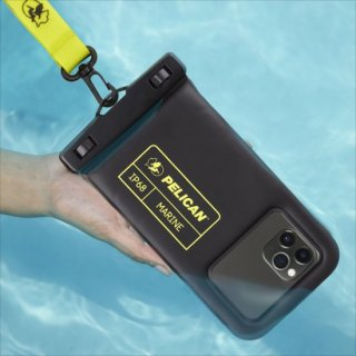 【Pelican×Case-Mate】防水ポーチ Marine Waterproof Floating Pouch - Black/Lime Green 6.5インチ程度のスマホまで対応