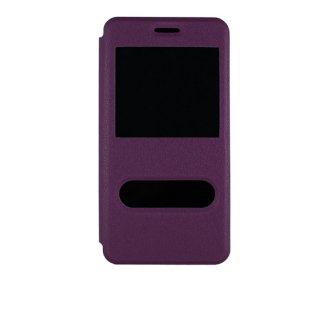【Huawei Y6 手帳型ケース】 GauGau Huawei Y6 Smart Case  Purple/White (スタンド機能つき)