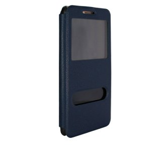 【Huawei GR5 手帳型ケース】 GauGau Huawei GR5 Smart Case  Navy/Black (スタンド機能つき)
